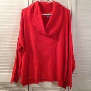 JCP 2X Orange Cowl Neck Cashmere Blend Sweater